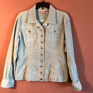 Chico's corduroy jacket size 2 (medium)